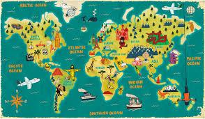 Australian World Map by World Map Paul Thurlby