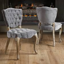 Grey Fabric Dining Room Chairs Best Selling Home Decor Middleton Tufted Grey Fabric Dining Chairs