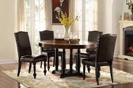 homelegance blossomwood 5404 54 cherry black round dining set