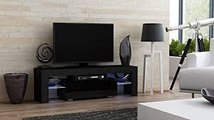 amazon com tv stand milano 130 modern led tv cabinet living