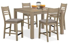 Outdoor Counter Height Chairs Tribeca Counter Height Table And 4 Side Chairs Gray Value City