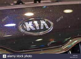 kia logo kiev ukraine may 29 kia logo on new korean car model quoris