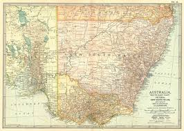 map of new south wales south east australia new south wales south australia