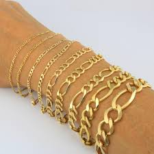 chain link bracelet gold images 14k yellow gold 3 5mm 7mm italian figaro chain link bracelet mens jpg
