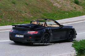 porsche convertible spy shots porsche lets the sun in new 911 turbo convertible