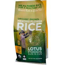 lotus foods organic brown mekong flower rice 15 oz 426 g