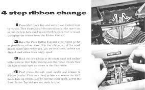 chagne ribbon how to install a typewriter ribbon typewriters 101