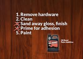 wood paint how to paint stained wood from five steps to three