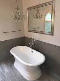 extraordinary bathroom chair rail with grey freestanding sink