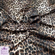 fs005 1 leopard print jersey stretchy scuba fabric spun