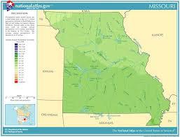missouri map data annual missouri rainfall severe weather and climate data