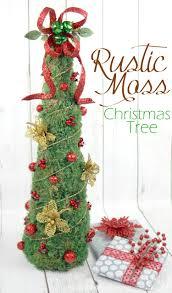 rustic moss christmas tree the scrap shoppe