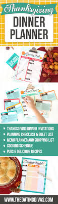 thanksgiving thanksgiving shopping list dinners menu planner