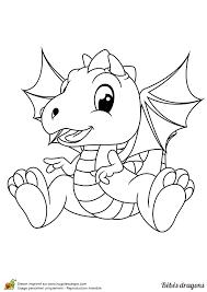 Coloriage dun bébé dragon vraiment adorable