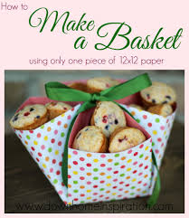 make a basket with only one piece of 12x12 paper down home