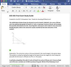 eco 365 final exam answer guide 2017 acc nerd