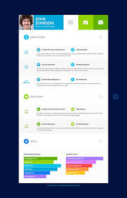 Resume Psd Template Flat Resume Template U2013 31 Free Samples Examples Format Download