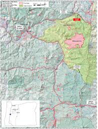 Oregon Fires Map Trail Report August 28 Pct Oregon