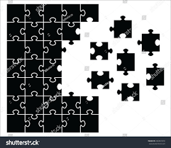 100 powerpoint template puzzle pieces free conflict