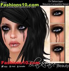 Black Eye Halloween Makeup Emo Eye Makeup Mugeek Vidalondon