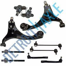 10pc complete front lower control arm suspension kit for hyundai