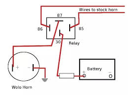 horn relay wiring schematic horn wiring diagrams collection