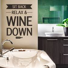 quote decals for glass gift idea for wine lovers sit back relax wine down decal wine