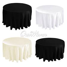 Cheap Table Linen by 108 Satin Tablecloth Table Cover White Black Round For Banquet