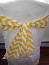 Chevron Armchair Corn Yellow And White Chevron Chair Sash 4 5