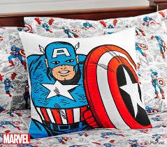 Captain America Decor Captain America Comic Duvet Cover Pottery Barn Kids