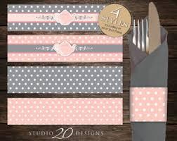 printable napkin rings pink napkin rings etsy