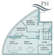floor plans of sky tower units al reem island