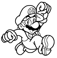 mario jumping coloring pages sketch coloring