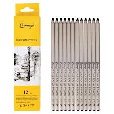 bianyo black charcoal pencils 12 piece set soft amazon in home