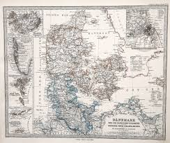 Copenhagen Map Map Of The Danish Kingdom Copenhagen Greenland 1885
