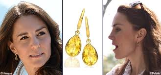 mcdonough citrine drop earrings royals hosting the obamas for dinner royal tour earrings