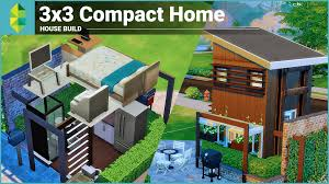 the sims 4 house building 3x3 compact home youtube