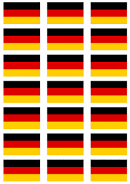 Germany Flag Colors Germany Flag Stickers 21 Per Sheet