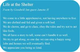 The Shelter by Janette H Shares Her Journey Through Homelessness U2013 Goodwill