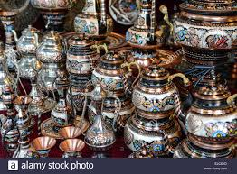 turkish teapots for sale in istanbul turkey stock photo royalty