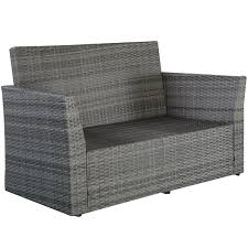 gym equipment outdoor wicker rattan furniture patio set 4 piece
