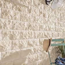 Briques Parement Interieur Blanc Accueil Design Et Mobilier Plaquette De Parement Béton Beige Nuancé Euroc 110 Leroy Merlin