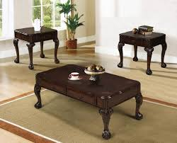 brown coffee table set occasional table sets pacific imports inc