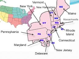 map of maryland delaware and new jersey northeast region ppt