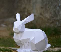 bunny sculpture bunny rabbit animal