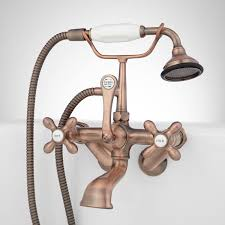 tub wall mount telephone faucet u0026 hand shower cross handle