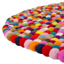 Multi Coloured Rug Uk Round Multi Coloured Felt Ball Rug Cult Uk