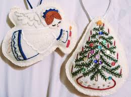 embroidered christmas christmas ornaments by liz ruff project sewing embroidery