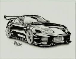 lamborghini sketch side view toyota supra tuning car drawing realistic by maxbechtold d7e9y96