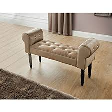 Shabby Chic Chaise Lounge by Glitz Diamante Shabby Chic Chaise Longue Pouffe Stool Mink